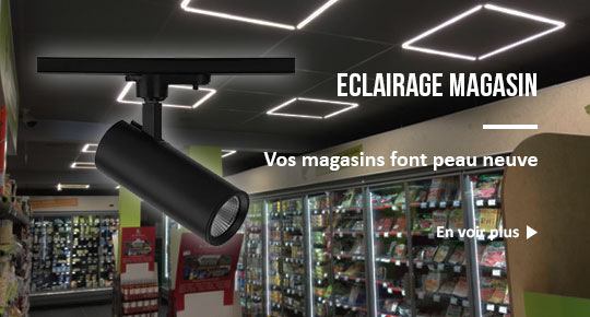 eclairage magasin